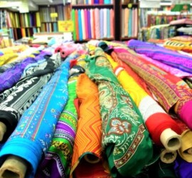 colourful fabrics in mustafa centre